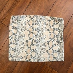 American Eagle Outfitters Snake Print Tube top